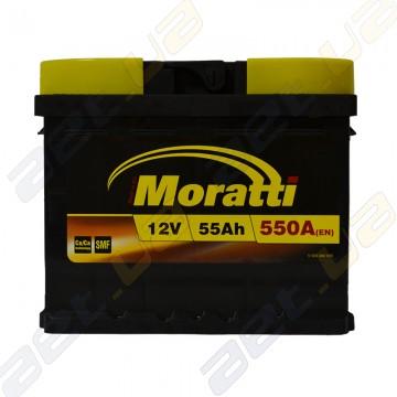 Аккумулятор Moratti 55Ah R+ 550A (низкобазовый)