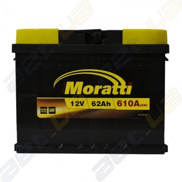 Аккумулятор Moratti 62Ah R+ 610A (EN)