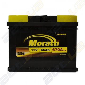 Аккумулятор Moratti 66Ah R+ 670A (EN)