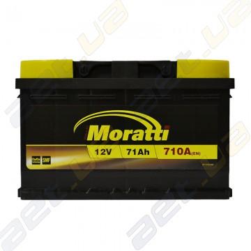 Аккумулятор Moratti 71Ah R+ 710A (EN) (низкобазовый)