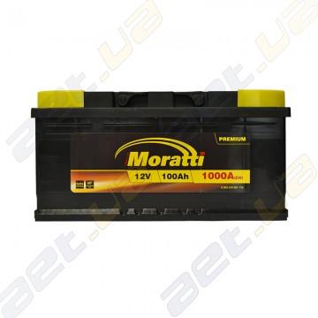 Аккумулятор Moratti 100Ah R+ 1000A (низкобазовый)