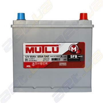 Акумулятор Mutlu SFB Technology 68Ah JR+ 600A (корпус 60)
