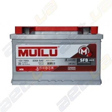 Аккумулятор Mutlu SFB Technology (Ser3) 78Ah R+ 780A (низкобазовый)