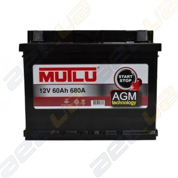 Аккумулятор Mutlu AGM Start-Stop 60Ah R+ 680A