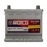 Mutlu Silver Calcium 55Ah JR+ 500A