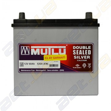 Аккумулятор Mutlu Silver Calcium 60Ah JR+ 520A