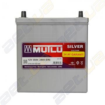 Аккумулятор Mutlu Silver Calcium 35Ah JL+ 240A (тонкая клемма)