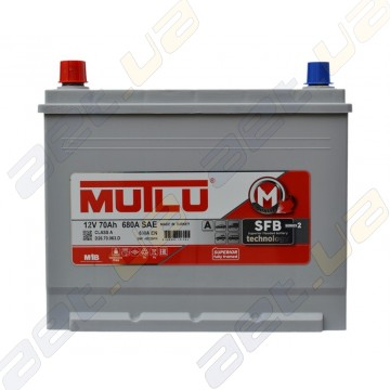 Аккумулятор Mutlu SFB Technology (Ser2) 70Ah JL+ 630A (EN)