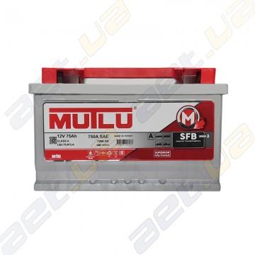 Аккумулятор автомобильный Mutlu 75Ah R+720A (низкобазовый)