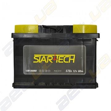 Аккумулятор Startech 60Ah R+ 570A (низкобазовый)