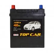 TOP CAR Asia 40Ah JL+ 330A (тонкая клемма)