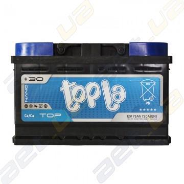 Аккумулятор Topla TOP 75Ah R+  720A (низкобазовый)