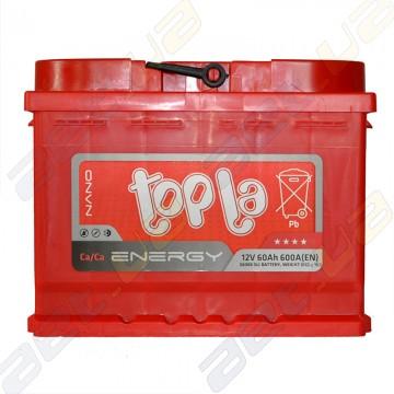 Автомобильный аккумулятор Topla Energy 60Ah R+ 600A