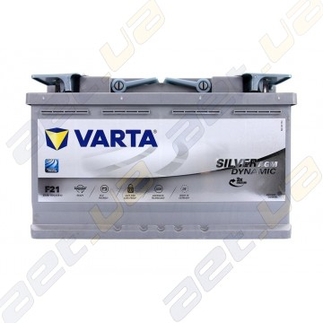 Аккумулятор Varta Silver Dynamic AGM 80Ah R+ 800A (EN)