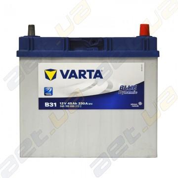 Аккумулятор Varta Blue Dynamic 45Ah JR+ 330A тонкая клемма