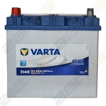 Автомобильный аккумулятор Varta Blue Dynamic 60Ah JL+ 540A