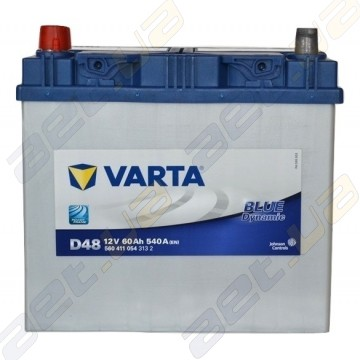 Аккумулятор Varta Blue Dynamic 60Ah JL+ 540A