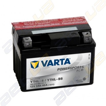 Мото аккумулятор Varta PS AGM (YT4L-BS) 12V 3Ah 40А R+