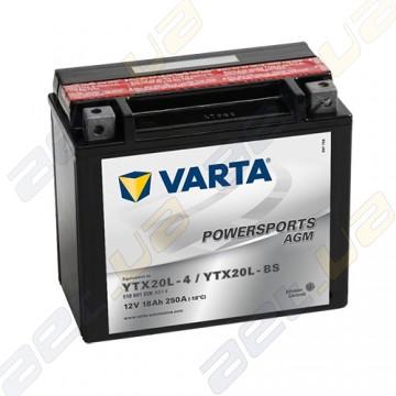 Мото аккумулятор Varta PS AGM (YTX20L-BS) 12V 18Ah 250А R+