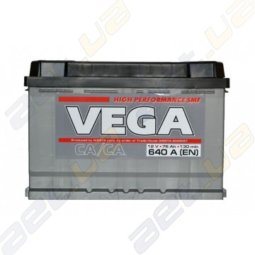 Аккумулятор Vega High Performance 75Ah L+ 640A