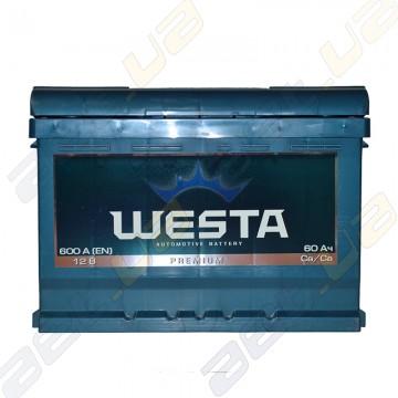 Автомобильный аккумулятор WESTA 60Ah R+ 600A (низкобазовый)