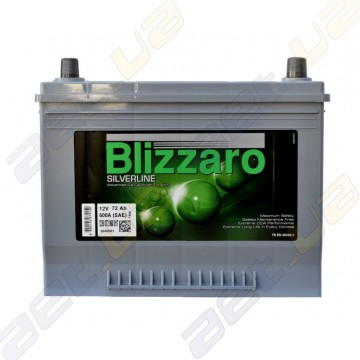 Blizzaro Silverline Asia 72Ah JR+ 600A