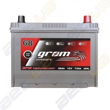 Аккумулятор Grom Battery 68Ah 730A JR+ (EN) EFB