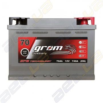 Аккумулятор Grom Battery 70Ah 740A R+ (EN) EFB