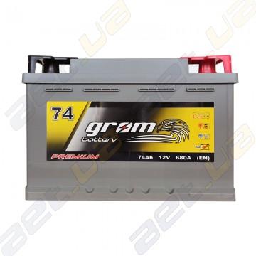 Аккумулятор Grom Battery 74Ah R+ 680A (EN) низкобазовый купить по лучшей цене | AET.UA