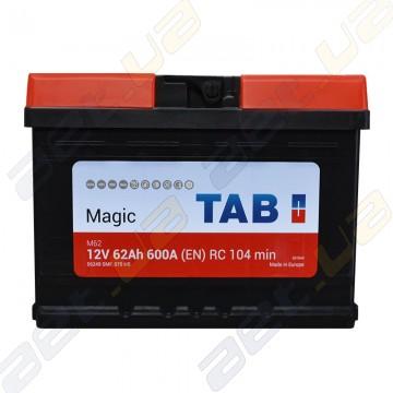 Аккумулятор TAB Magic 62Ah R+ 600А (En) низкобазовый