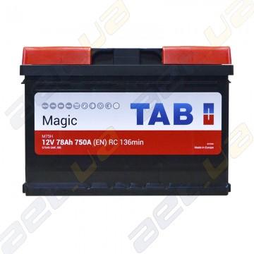 Аккумулятор автомобильный TAB Magic 6CT-78Ah R+ 750A (EN)