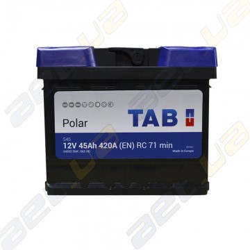 Аккумулятор TAB Polar S 6CT-45Ah R+ 420A (EN) (низкобазовый)