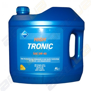 Моторное масло Aral High Tronic SAE 5W-40 4л