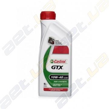 Моторное масло полусинтетика Castrol GTX 10W-40 A3/B4 1л