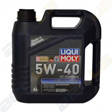 Моторное масло Liqui Moly Optimal Synt 5W-40 4л