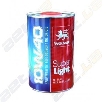 Масло моторное полусинтетика Wolver Super Light 10W-40 1л
