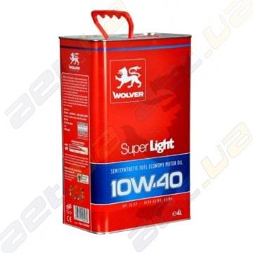 Масло моторное полусинтетика Wolver Super Light 10W-40 4л