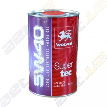 Моторное масло Wolver SuperTec 5W-40 1л