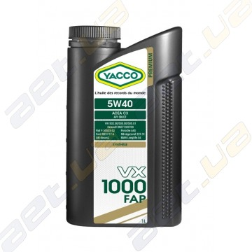Моторное масло YACCO VX 1000 FAP 5W40 – 1 л