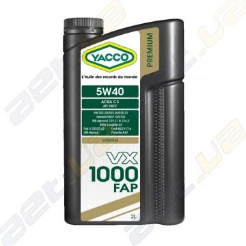 Моторное масло YACCO VX 1000 FAP 5W40 – 2 л