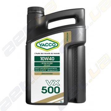 Моторное масло YACCO VX 500 10W40 – 5 л