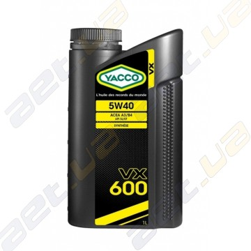 Моторное масло YACCO VX 600 5W40 – 1 л