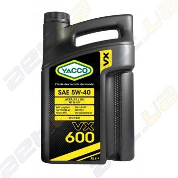 Моторное масло YACCO VX 600 5W40 – 5 л