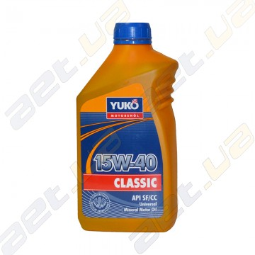 Моторное масло Yuko Classic 15W-40 1л