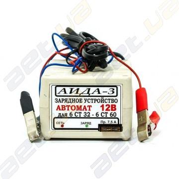 """Зарядное устройство автоматическое десульфатирующее """"АИДА-3"""" для 12В АКБ 15-60А*час."""