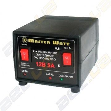Автоматическое зарядное устройство MasterWatt 0,8-5А 12В 2-х режимное (заряд /заряд+хранение)